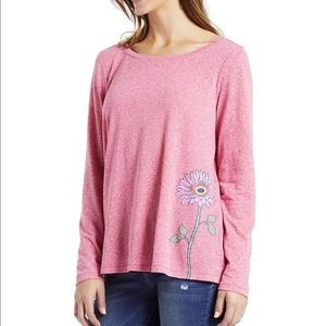 NEW Life is good M long sleeve trapeze tee 0721